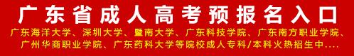 2020年广东省成人高考预报名入口